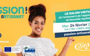PASSION ARTISANAT, le Salon virtuel de l'alternance et de l'artisanat en Nouvelle-Aquitaine
