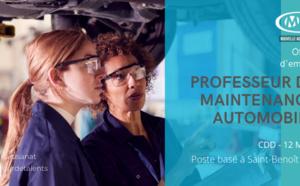 PROFESSEUR DE MAINTENANCE AUTOMOBILE CDD 12 MOIS TEMPS PARTIEL (CMA NA 86)