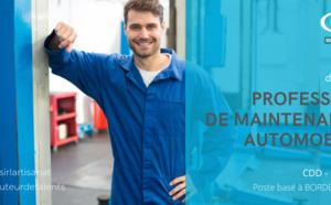 PROFESSEUR DE MAINTENANCE AUTOMOBILE (H/F) CDD 5 MOIS  POSTE BASE A BORDEAUX