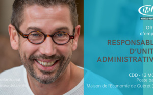 RESPONSABLE D'UNITE ADMINISTRATIVE CDD 12 MOIS POSTE BASE A LA MAISON DE L'ECONOMIE DE GUERET (CMA NA23)